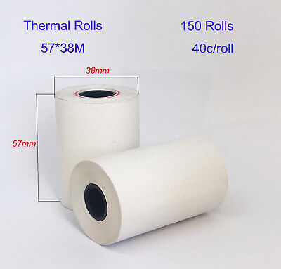 10/50/100/150 Pcs 57x38mm Eftpos Rolls Thermal Paper Cash Register Receipt