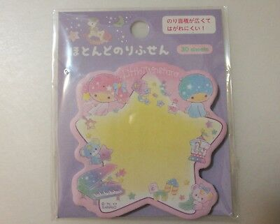 Kawaii sanrio LITTLE TWIN STARS sticky notepad memo pad post its 30 sheets