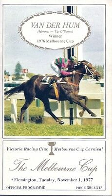 MELBOURNE CUP 1977 Race Book - Won by Gold and Black