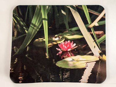 Mousepad with Pink Lily Pad Blossom