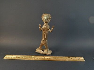 Rare Antique Asian Indian Bastar Tribal Bronze Metal Standing Deity Figure 6.25""