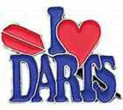 "Darts Badges Collection-Metal "" I Love Darts """