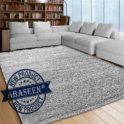 Extra Large X Small Silver Shaggy Rug Floor Carpet Thick