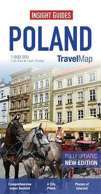 Insight Travel Map Poland *FREE SHIPPING - NEW*