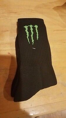Monster Energy Socks ATHLETE GEAR 2017 BRAND NEW AMA BMX SKATE NASCAR