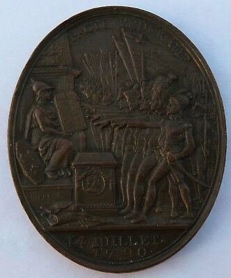 France 1790 Medal of the Federative Pact, Better Grade French coin  (172029C)