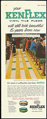 1953 Vintage ad for KEN FLEX Vinyl Tile Floor (010213)