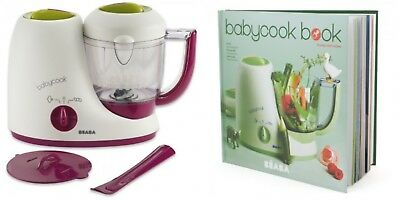 Beaba BabyCook 4In1 Steam Cooker Blender Baby Food Maker & Recipe Cook Book