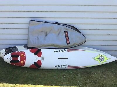 2 X Sailboards / Wind Surfers and 1 Sailboard Bag
