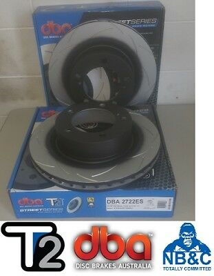 DBA T2 FRONT SLOTTED ROTORS suit TOYOTA 200 SERIES LANDCRUISER 340mm