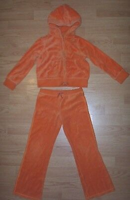 Girls Gymboree Tracksuit Size 7 Orange Pre-Owned Very Worn Play Clothes