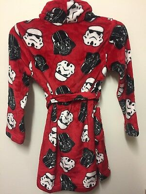 Star Wars Darth Vader & Storm Trooper Pajama Robe NWT Size 4, 6, 8, 10 Holidays!