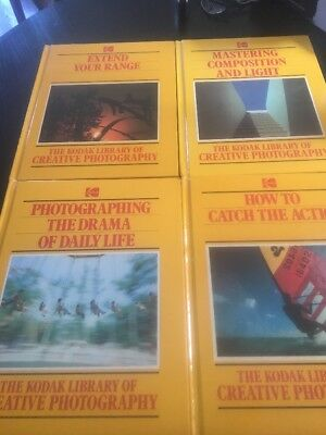 Lot of 8 The Kodak Library of Creative Photography Time Life Books 1980's