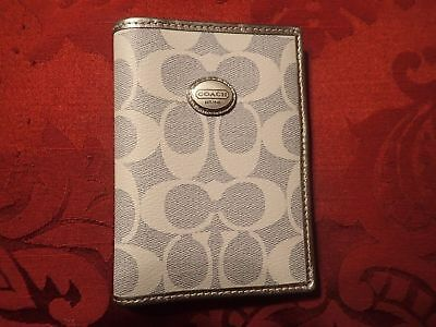 Authentic Coach LIGHT BLUE Passport Holder  (EUC)