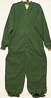 Big Feet Pjs - Green Fleece Adult Drop Seat Pajamas - MEDIUM - NOT Footed