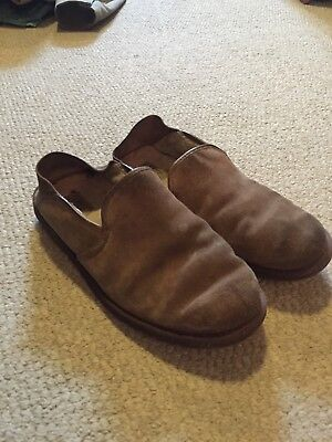 32a658b4ffe UGG mens Cooke chestnut suede shearling scuff slippers 11