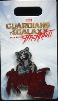 DCA Guardians of The Galaxy Mission: Breakout Rocket Raccoon Disney Pin 122668