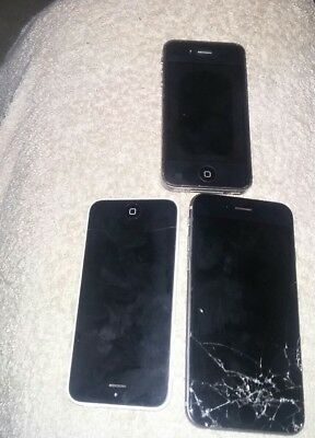 Lot Of 3 Older Iphones For Parts Or Repair