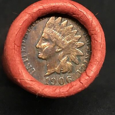 Vintage Estate!! Very Rare Toned 1906 Indian Showing! Wheat Head Mixed Roll R358