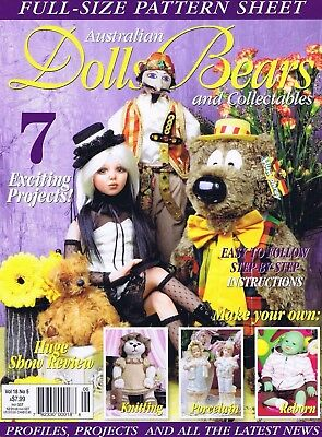 Australian Dolls Bears Magazine Collectibles Vol 18 No 5 with Sewing Patterns