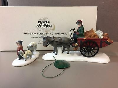 Dept 56 Christmas Village Accessory Set BRINGING FLEECES TO THE MILL ~ IOB 58190