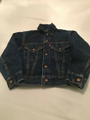 Original vintage Levi's Big E 1960s trucker jacket for kids 6-7