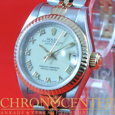 Rolex Oyster Perpetual Datejust Lady Stahl/gold Ref. 69173 Box & Papiere Lc100
