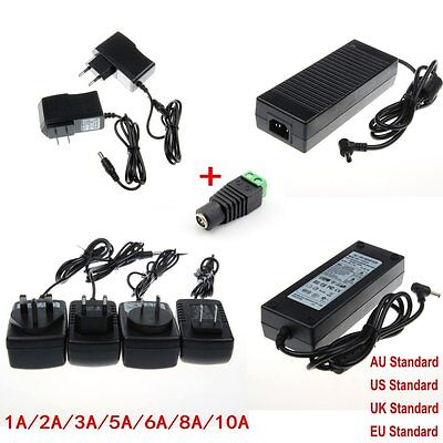 For LED Strip Adapter Power Supply 12V 1A 2A 3A 5A 6A 8A 10A Charger Transformer