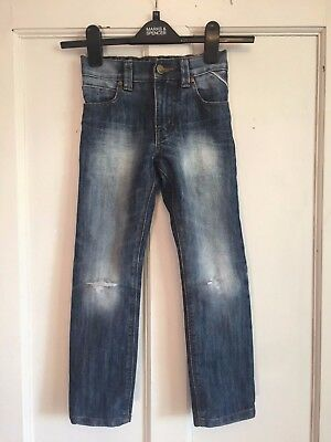 Boys Denim Regular Fit Ripped Jeans from Next Age 5 Years