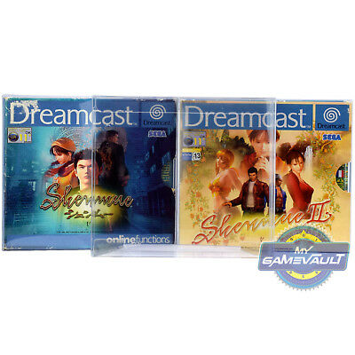 1 x Shenmue Game BOX PROTECTOR Strong 0.5mm Plastic Display Case Sega Dreamcast