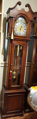 Mahogany Finish 8 day Westminster Chiming Grandfather Clock, Delivery Arranged