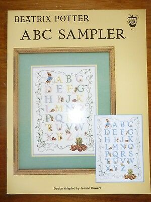 Green Apple Co #622 Cross Stitch Pattern-Beatrix Potter-Abc Sampler-Peter Rabbit