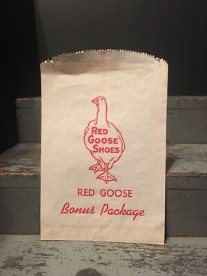 Vintage Red Goose Shoes Bonus Package Advertisement Bag never used