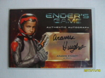 Ender's Game Authentic Autograph Card  - Aramis Knight as Bean
