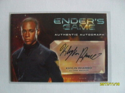 Ender's Game Authentic Autograph Card  - Khylin Rhambo as Dink Meeker
