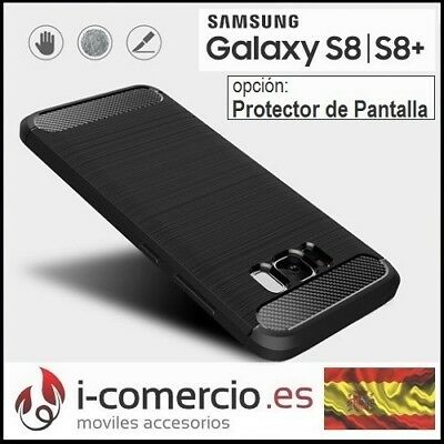 Funda Carcasa TPU Carbono Carbon Tough Rugged Case Samsung Galaxy S8 / S8+ Plus