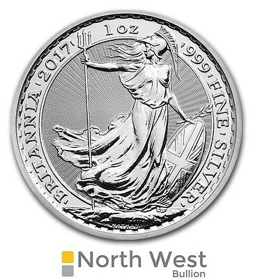Silver Britannia, 2017 uncirculated 1oz Silver Bullion Coin
