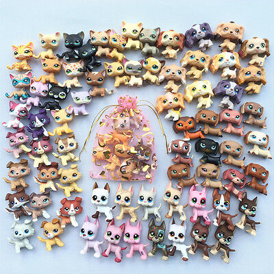 5pcs Littlest Pet shop lot LPS toys Cat +Collie+Spaniel+Dachshund+Great Dane
