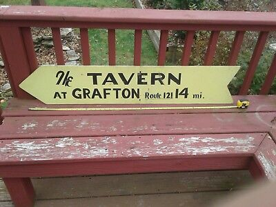antique advertising sign  TAVERN  DIRECTION SIGN