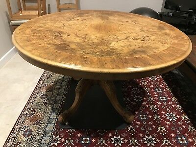Antique Walnut Round Loo Table