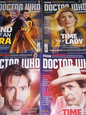 4x DOCTOR WHO MAGAZINES 2017 515 516 517 518 David Tennant Sylvester McCoy