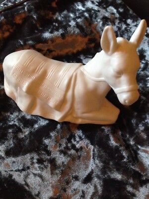 Avon Nativity Collectibles THE DONKEY White Porcelain Figurine 1984