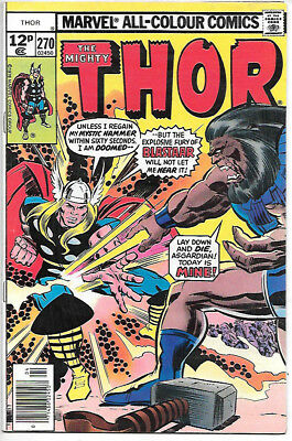 THOR #270 (1978 vf/nm 9.0) Price guide value in this grade $8.00 (£6.00)