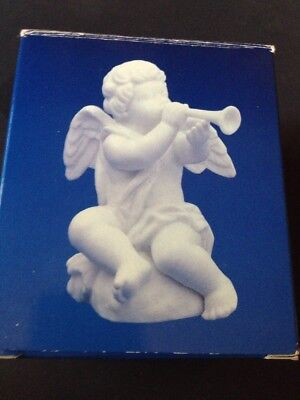 Avon Nativity Collectibles The Cherub Angel White Bisque Porcelain with box 1989