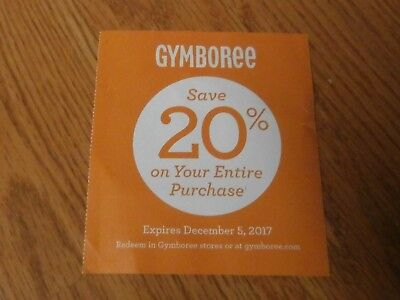 Gymboree 20% off your entire purchase Expires December 24, 2017
