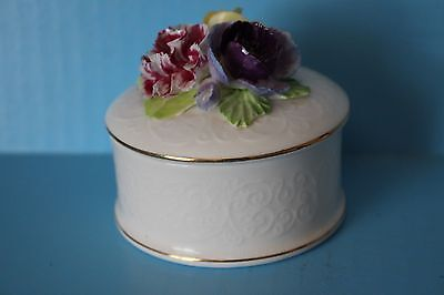 Vintage Porcelain Flowers Figurine Case Fine Bone China Crown Staffordshire 1801