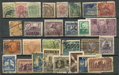 1918+ Poland,Lot Collection Used Stamps