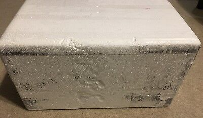 """Insulated shipping container: Styrofoam box 15""""x11""""x8"""" exterior, cooler"""