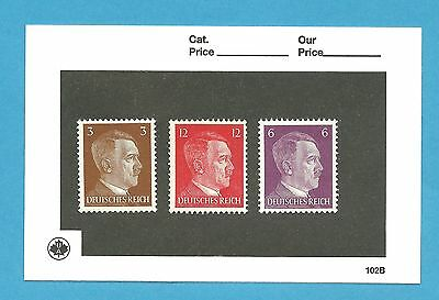 MNH Stamp set / 1941 Issues  / Third Reich / Adolph Hitler / Nazi Germany