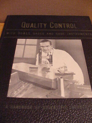 Vintage 1945 QUALITY CONTROL Book CONTINENTAL MACHINES SAVAGE TOOL DOALL Metron